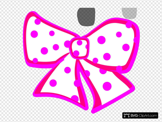 White Dotted Bow