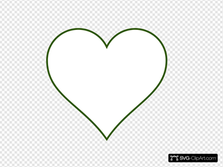 Small Red Heart With Transparent Background SVG Clipart