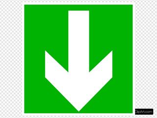 White Arrow - Down