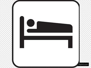 Hotel Motel Sleeping Accomodation Clipart