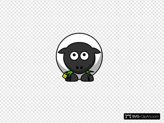 Sheep White Looking Up SVG Clipart