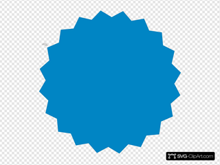 Blue Sticker SVG Clipart