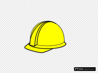 Yellow Hard Hat SVG Clipart
