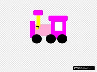 Pink Locomotive Train