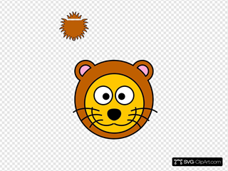 Cartoon Golden Lion