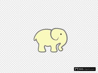 Pale Yellow Elephant