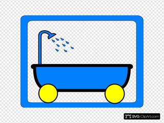 Tub On Wheels Yellow Blue