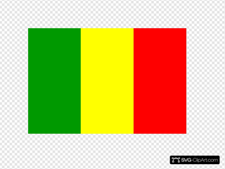 Mali Flag SVG Cliparts