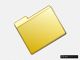 Closed Simple Yellow Folder