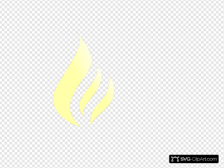 Blue Flame Simple Yellow White