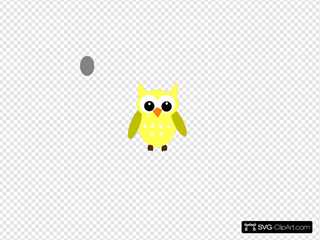 Yellow Gray Owl