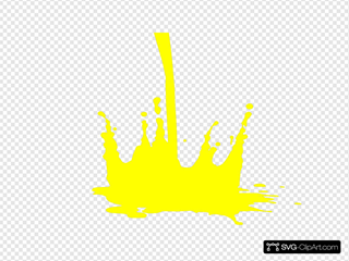 Paint Splat Yellow