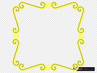 Yellow Scroll Border