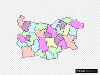 Administrative Map Of Bulgaria