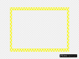 Yellow Checkerboard Frame