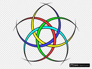 Five Interlaced Crescents