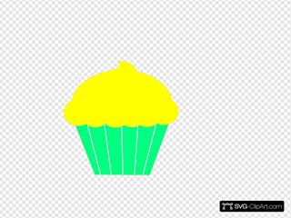 Cupcake yellow PNG.