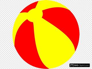 Strandball Beachball Ball Bright Red And Yellow