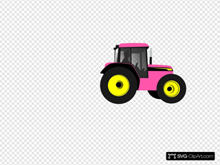Tractor-pinkyellow