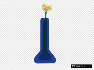 Flower In Blue Vase
