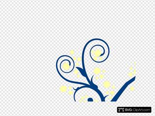 Blue Tree Yellow Buds