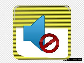 Yellow Mute Button