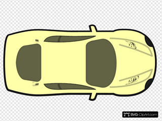 Yellow Car, Top View