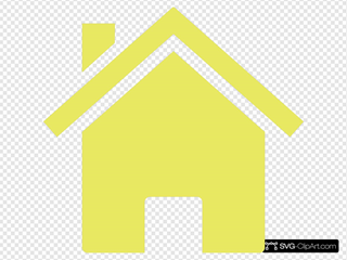 Yellow House SVG Clipart