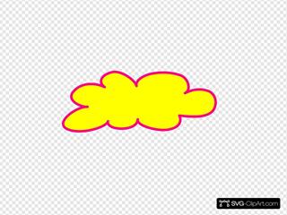 Yellow Cloud, Pink Border