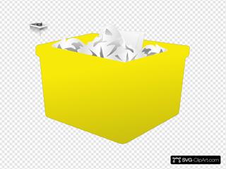 Yellow Plastic Bin
