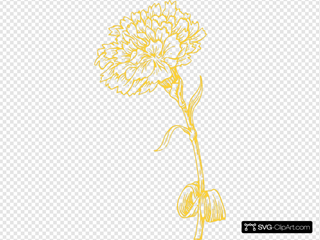 Yellow Carnation SVG Clipart