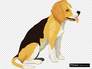 Yellow And Black Beagle SVG Clipart