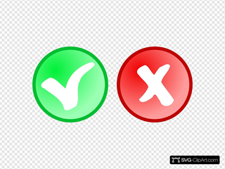 Red Green Ok Not Ok Icons
