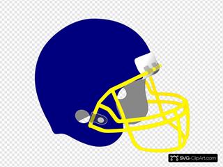 Blue And Yellow Helmet