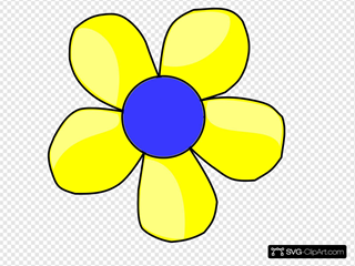Blue And Yellow Flower Shaded