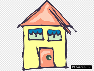 Yellow House Drawing