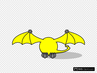 Yellow Pterodactyl Body Only
