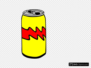 Yellow Pop Can SVG Clipart