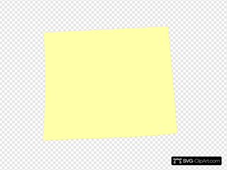 Light Yellow Post It Note