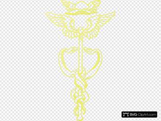 Medical Symbol Yellow