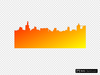 Orange Yellow Red Skyline