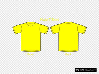 Plain T Shirts Yellow Svg Vector Plain T Shirts Yellow Clip Art Svg Clipart