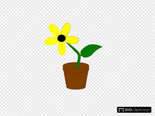 Yellow Flower SVG Clipart