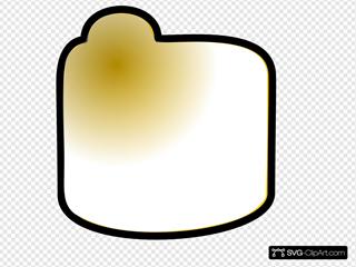 Closed Yellow Folder Clipart