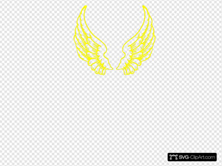 Yellow Wings SVG Cliparts