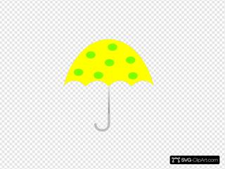Yellow Polka Dot Umbrella