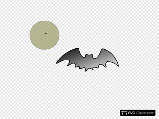Bat With Moon