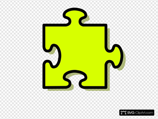 Yellow Jigsaw Piece