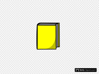 Yellow book. Clip art icon and